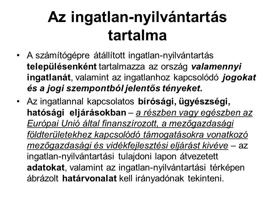 A tulajdonosi joggyakorlás illetve a vagyonkezelés (2) •Az állami vagyon felett a Magyar Államot megillető tulajdonosi jogok és kötelezettségek összességét a) az állami vagyon felügyeletéért felelős miniszter, valamint b) a Nemzeti Földalapba tartozó vagyon tekintetében az agrárpolitikáért felelős miniszter gyakorolja.