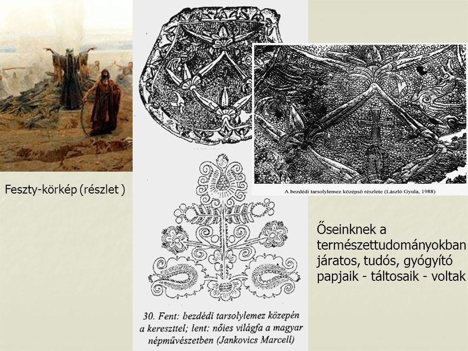 Feszty-körkép (részlet ) Őseinknek a természettudományokban járatos, tudós, gyógyító papjaik - táltosaik - voltak