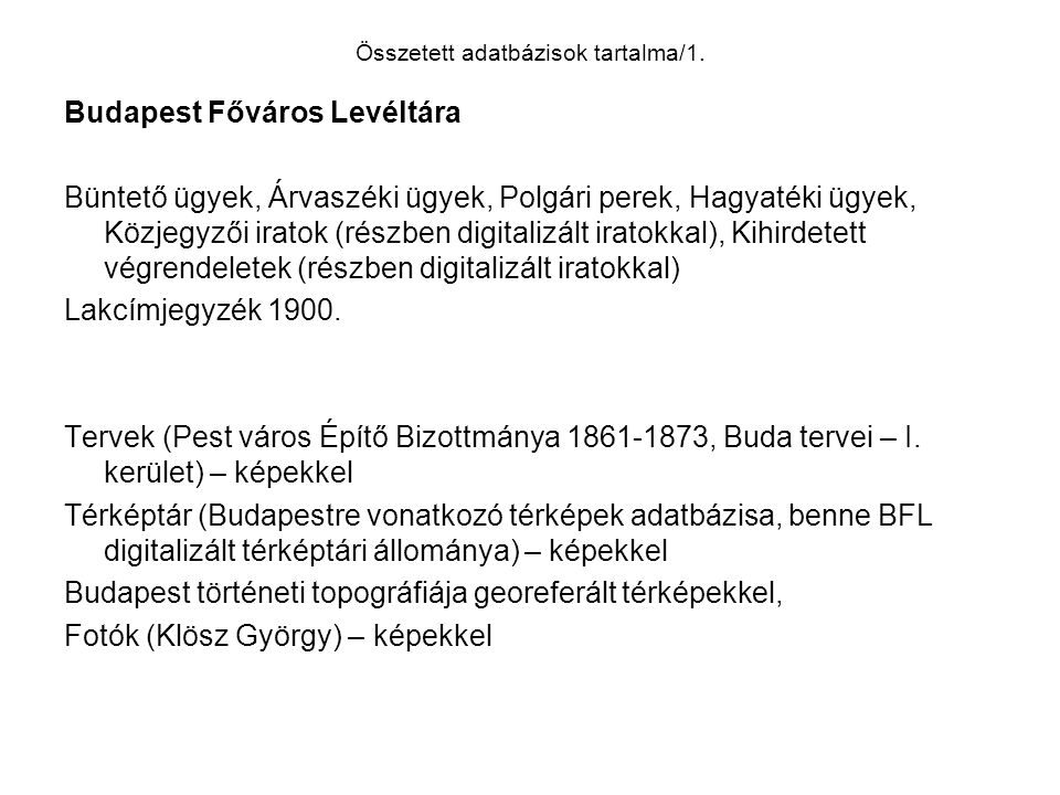 Összetett adatbázisok tartalma/2.