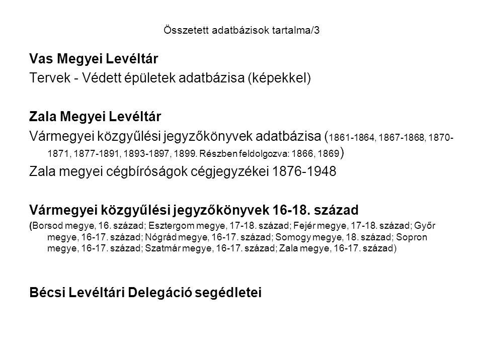 Forrásadat – BFL Társadalomtörténeti adattár, Hagyatéki ügyek