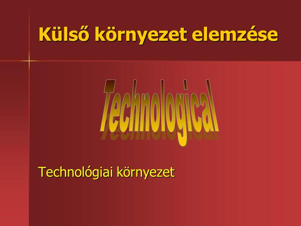 Külső környezet elemzése Technológiai környezet