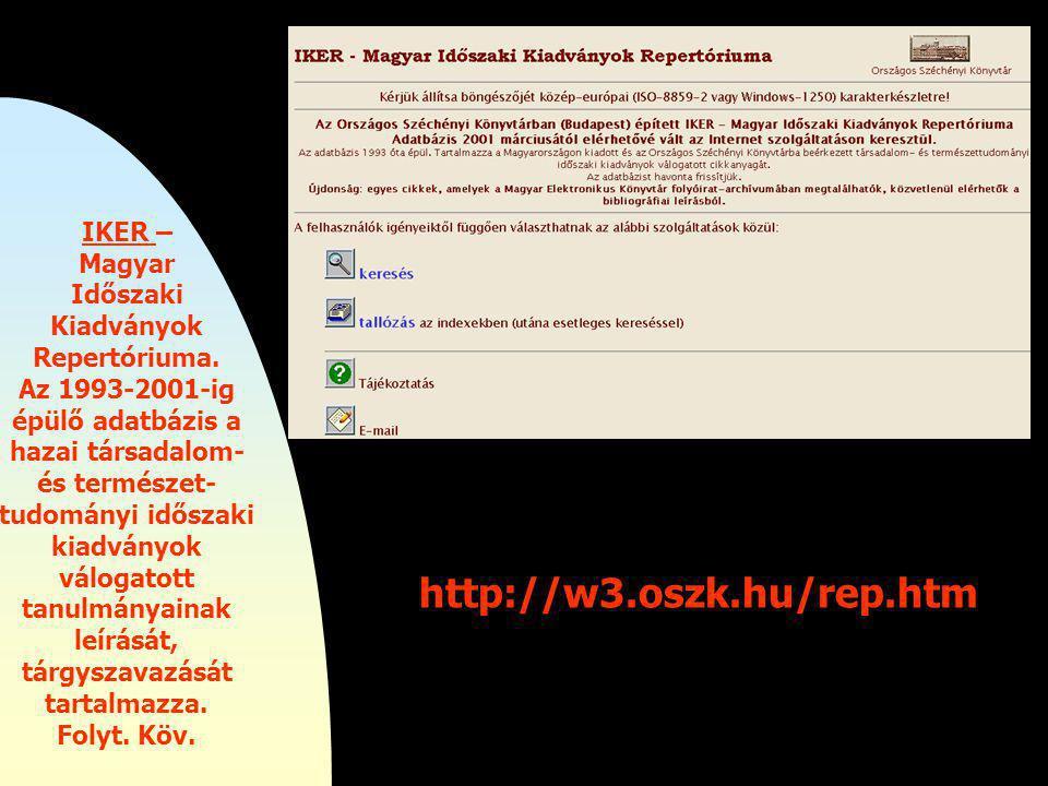 Új számítógépes lehetőségek az OSZK-ban.