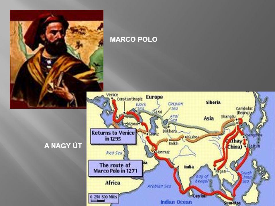  a portugálok Nyugat felé hajózva 1431-ben eljutottak az akkor még lakatlan Azori-szigetekig  Tengerész Henrik (1394-1460), portugál herceg, aki nem hajózott ugyan, az 1410-es évektől több tengeri vállalkozást finanszírozott  1434: Eanes, Tengerész Henrik legmerészebb hajósa túljut a Bojador- fokon  1445-ben elérik a Zöld-fokot, Afrika legnyugatibb csücskét  1482: Diego Cao átlépi az Egyenlítőt és felfedezi a Kongó-folyót- 1487: Bartolomeu Dias eljut Afrika egyik legdélibb pontjához, a Jóreménység-fokahoz  1498-ban Vasco da Gamanak Afrikát megkerülve sikerül eljutnia Indiába, ahol Kalikut városában köt ki.
