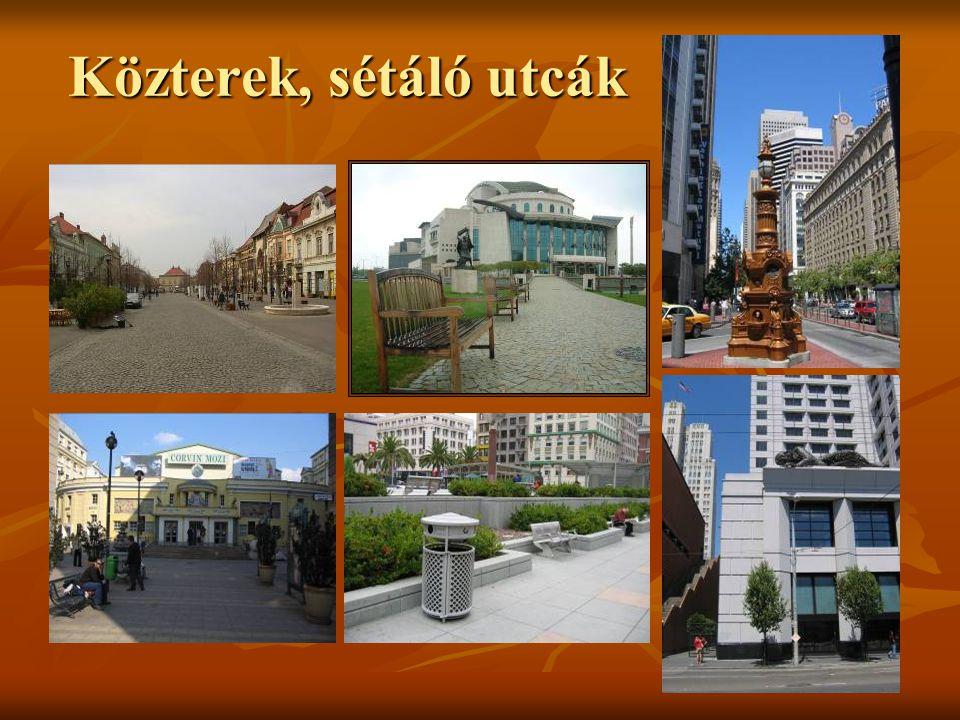 Kulturális épületek Köztéri szökőkút szoborral a PécsiNemzeti Színház előtt.