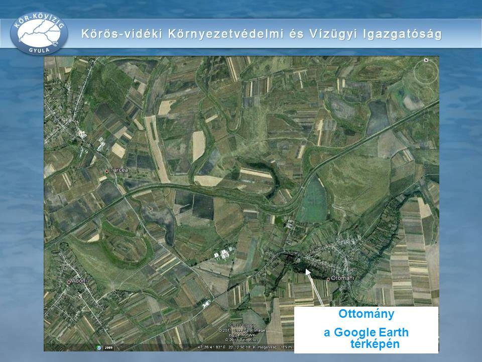 Közelítő térkép Ottomány a Google Earth térképén