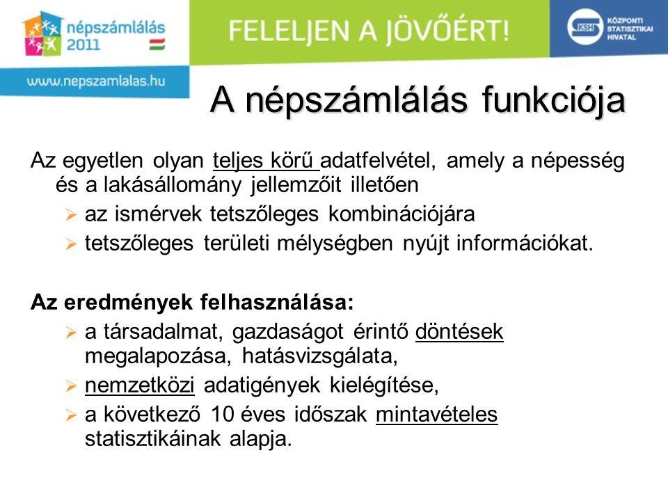 Eredmények közzététele  Előzetes adatok: 2012.03., Végleges: 2012.12.