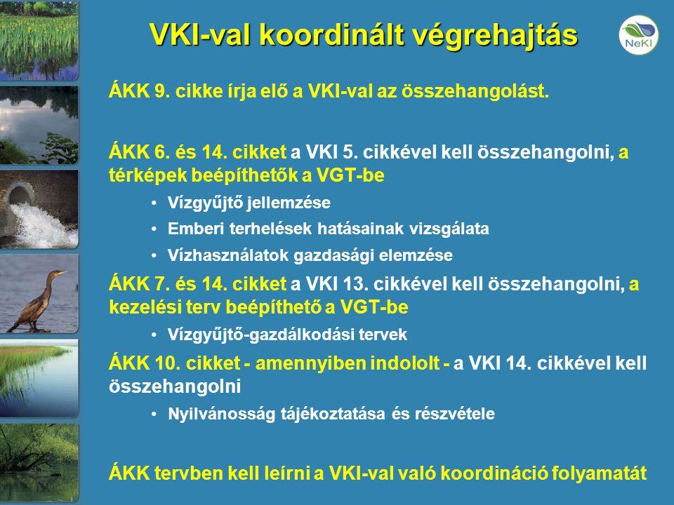 VKI-val koordinált végrehajtás ÁKK 9. cikke írja elő a VKI-val az összehangolást.