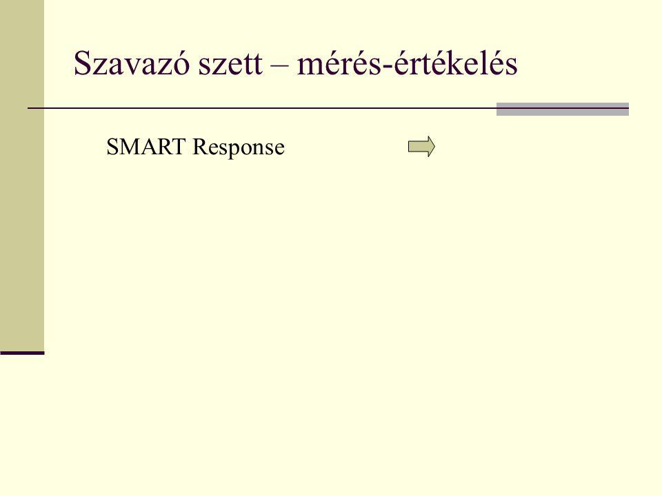 Szavazó szett – mérés-értékelés SMART Response