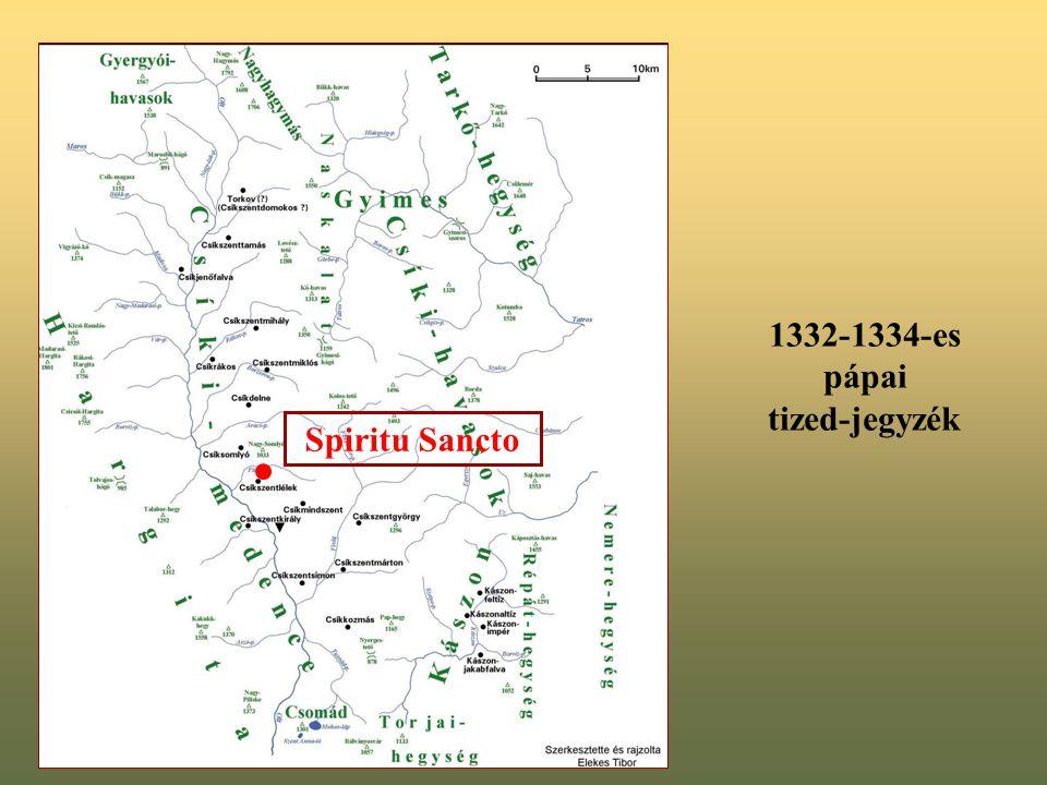 Spiritu Sancto 1332-1334-es pápai tized-jegyzék