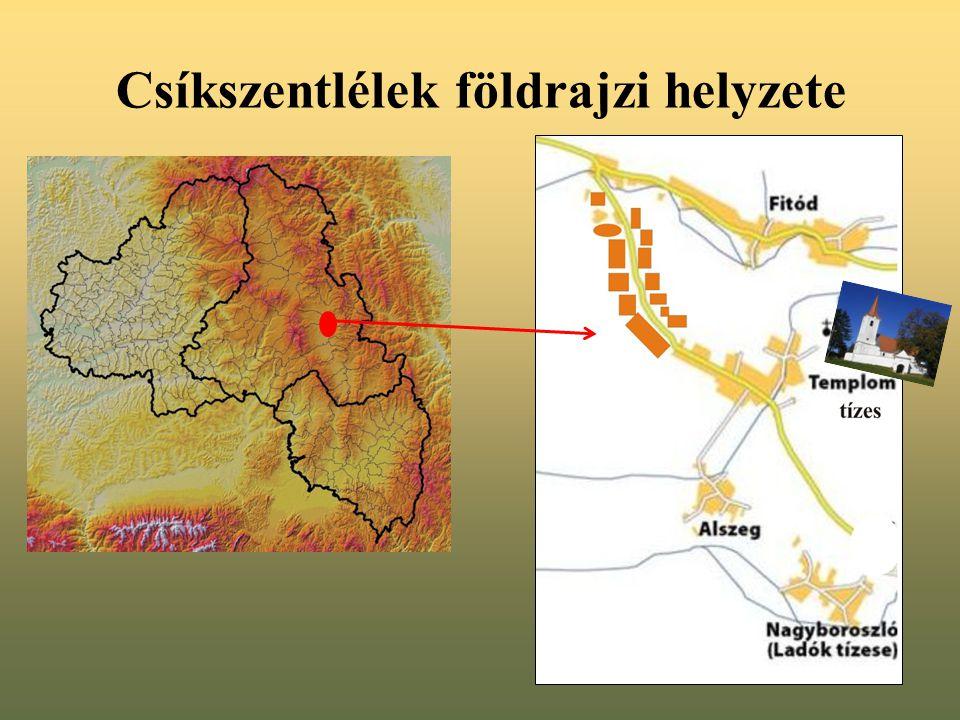 Csíkszentlélek földrajzi helyzete