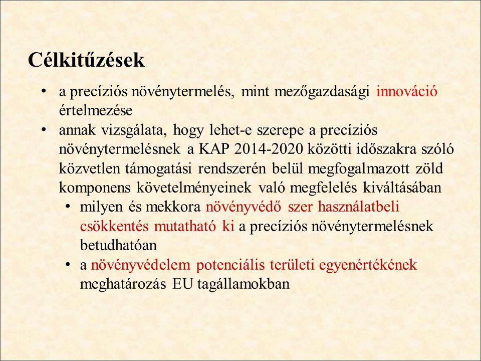 Növényvédelem potenciális területi egyenértéke - eredmények • növényvédelem potenciális területi egyenértéke (EU-25, 16 ESU méret feletti gazdaságok) – I.