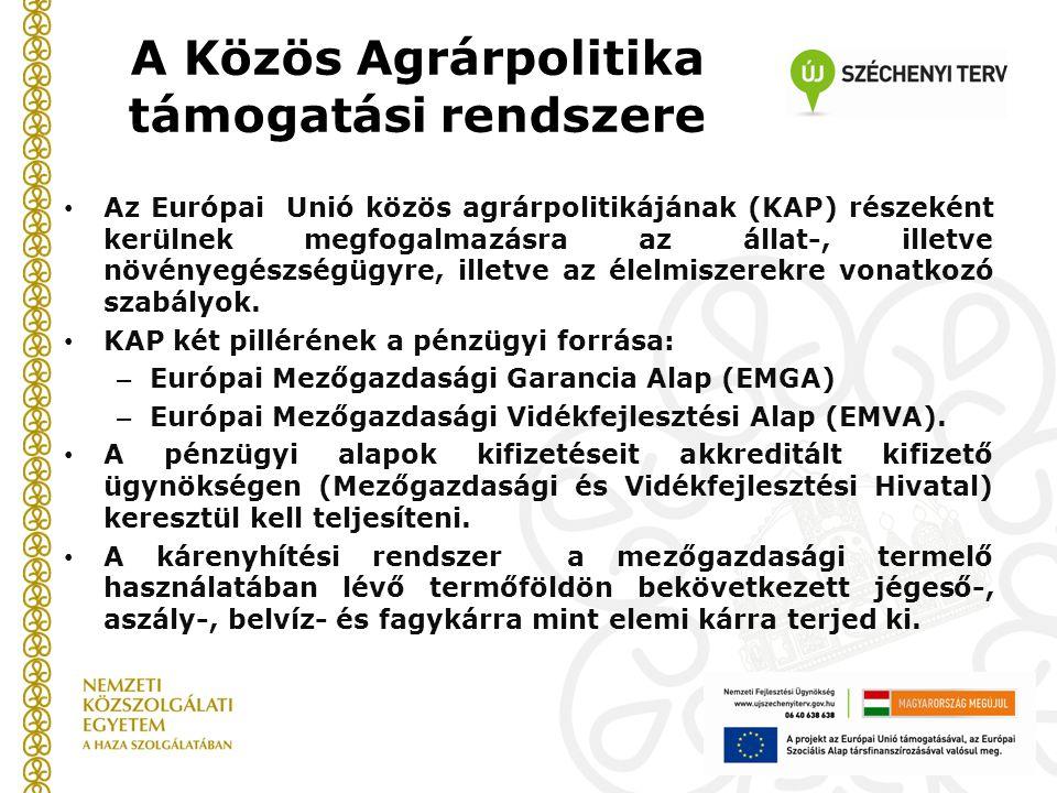 A Közös Agrárpolitika támogatási rendszere • Az Európai Unió közös agrárpolitikájának (KAP) részeként kerülnek megfogalmazásra az állat-, illetve növé