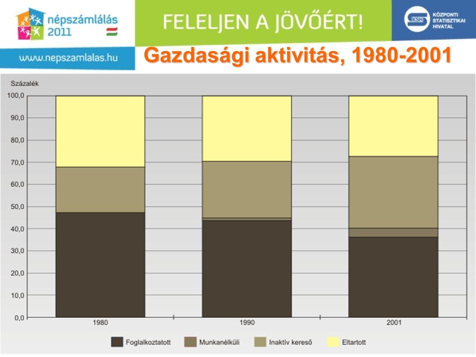 11 Gazdasági aktivitás, 1980-2001