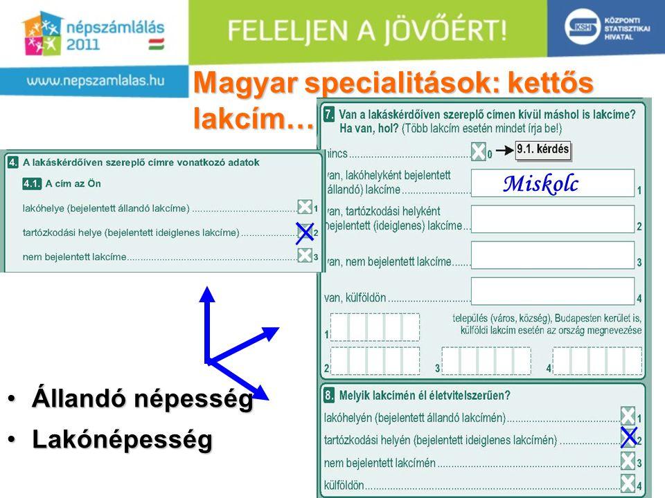 32 Magyar specialitások: kettős lakcím….. •Állandó népesség •Lakónépesség Miskolc