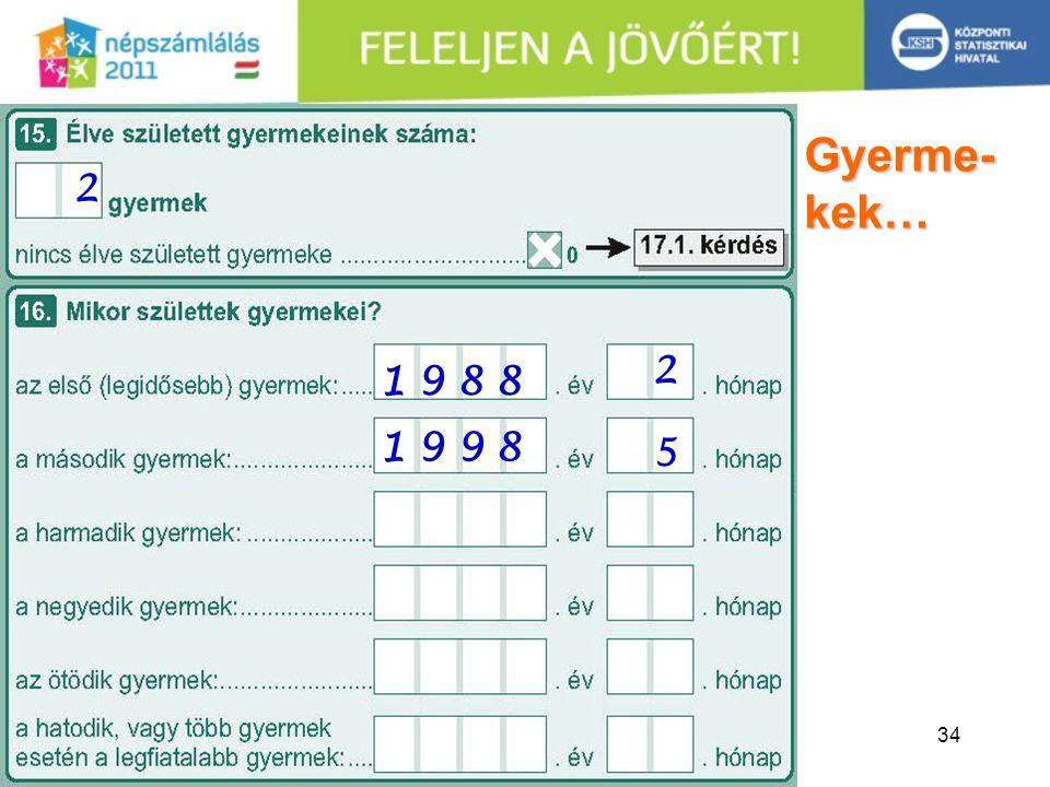 34 Gyerme- kek… 2 2 5 1 9 8 81 9 8 8 1 9 9 81 9 9 8