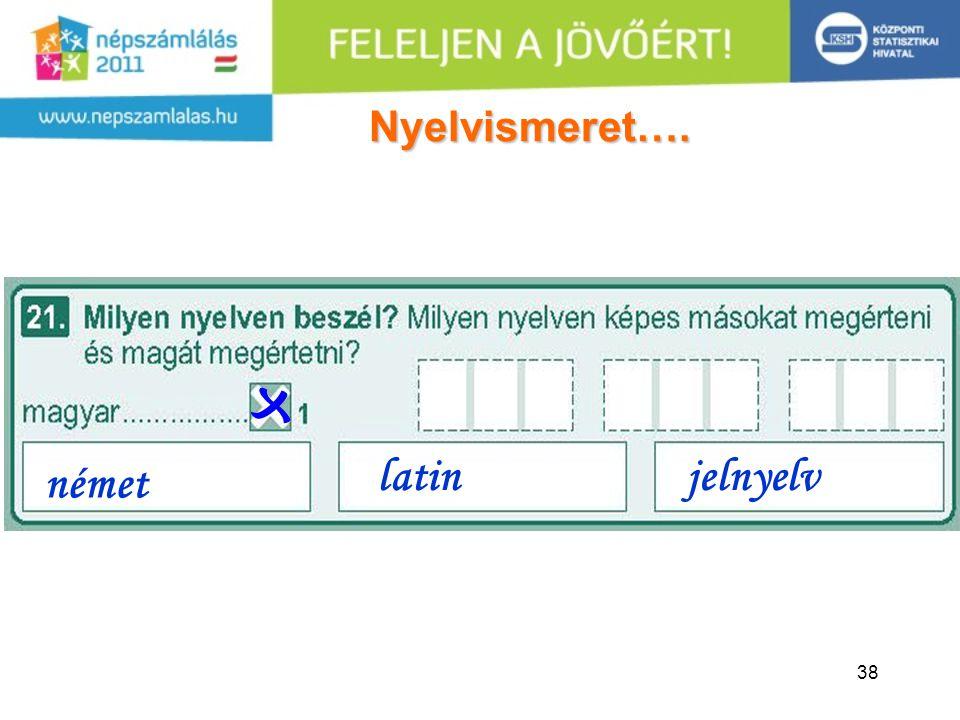 38 német latinjelnyelv Nyelvismeret….