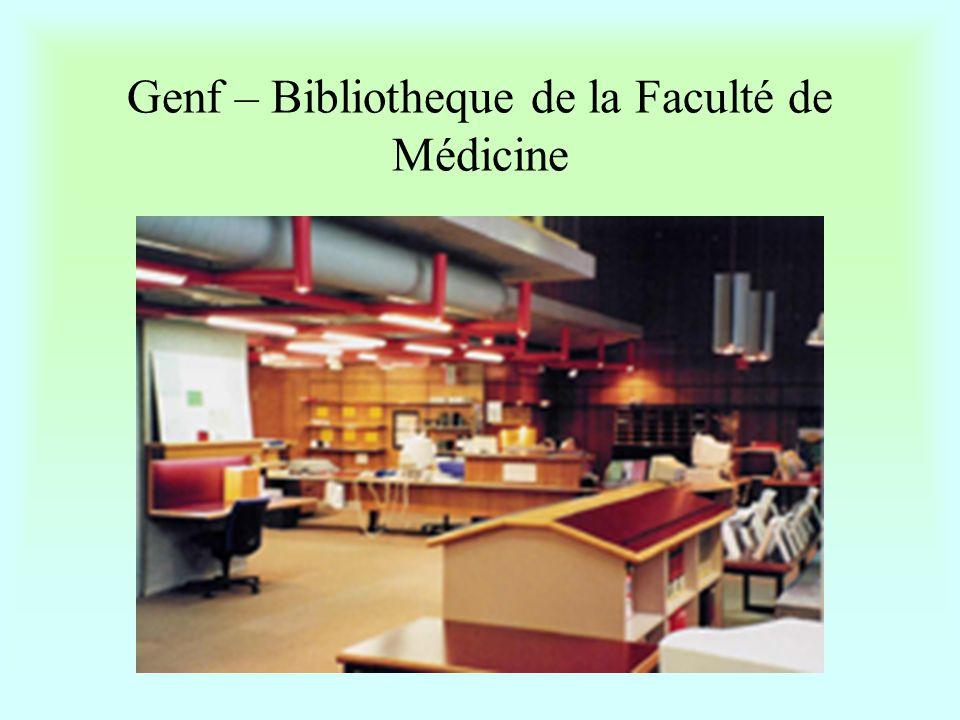"""Lausanne – Bibliotheque de la faculte de Medicine et du CHUV •Igazgató-helyettes: Anne Parical •Érdekesség: szövettani metszeteket, röntgenfelvételeket is gyűjtenek •Szolgáltatásaik igénybevételéhez sokkal több jogosultsággal rendelkeznek a klinika dolgozói, mint a másutt praktizáló egészségügyiek •A nem intézeti látogatók számítógépes kutatásaik eredményeit floppyra menthetik, nyomtatást nem biztosítanak részükre •Az internetet a látogatók külön azonosító-kártyával használhatják •Multimédiahálózatuk """"csak a könyvtárban érhető el •Könyvtárközi kölcsönzést ellátó elektronikus rendszer neve: Supito •Honlapjuk:www.hospvd.ch/chuv/bdfm •Rendkívül korszerű, az oktatást kitűnő adatbázisokkal, multimédiás anyagokkal segítő könyvtár."""