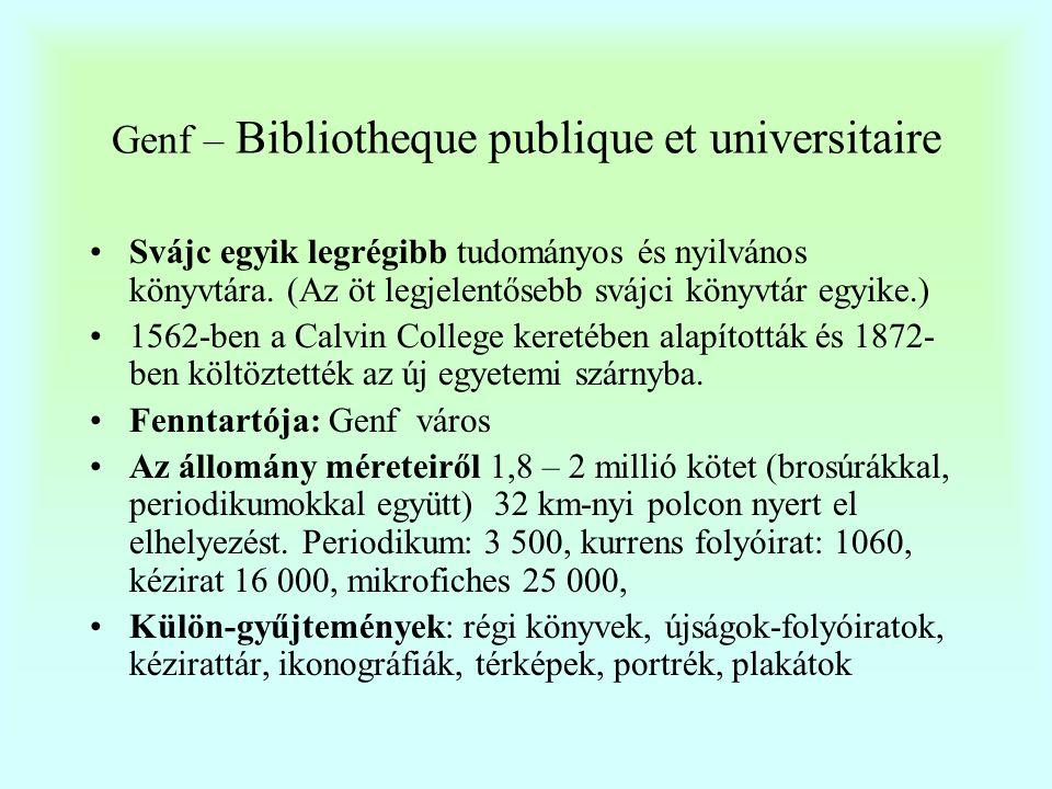 Genf - Bibliotheque publique et universitaire