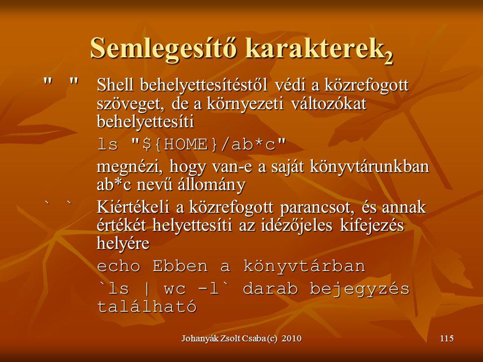 Johanyák Zsolt Csaba (c) 2010115 Semlegesítő karakterek 2