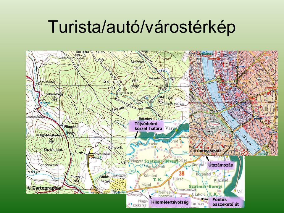 Turista/autó/várostérkép