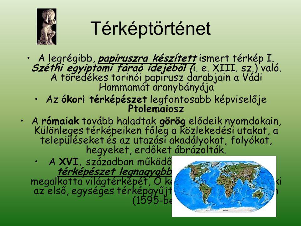 •A legrégibb, papiruszra készített ismert térkép I.
