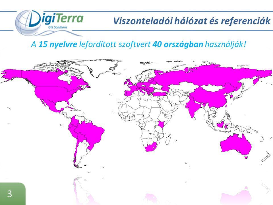 3 Viszonteladói hálózat és referenciák A 15 nyelvre lefordított szoftvert 40 országban használják!