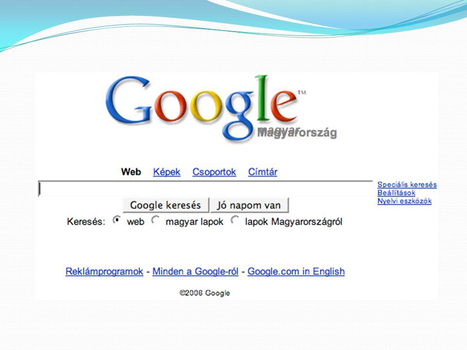 """Google  """"google : eredetileg """"googol , ami a matematikában azt a számot fejezi ki, ahol egy 1-es után 100 darab nulla van."""