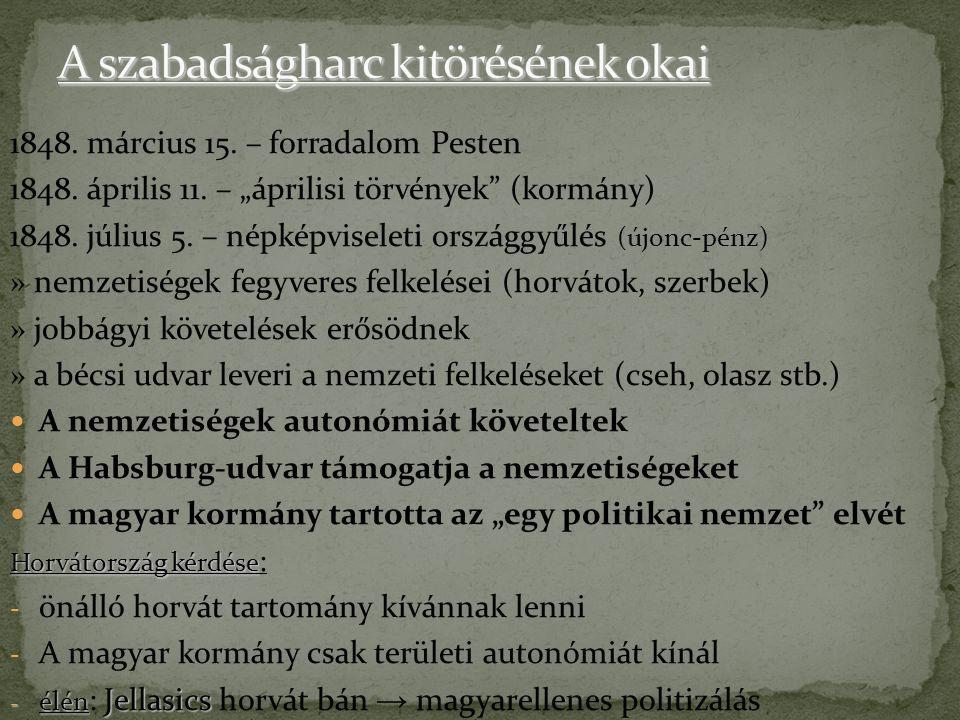 segítséget kért I.Miklós cártól » 1849. május – Ferenc József segítséget kért I.