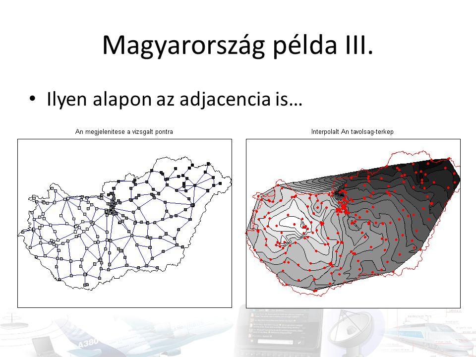 Magyarország példa III. • Ilyen alapon az adjacencia is…