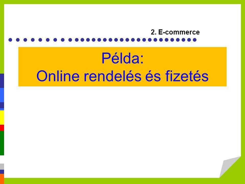 ………...................... Példa: Online rendelés és fizetés 2. E-commerce