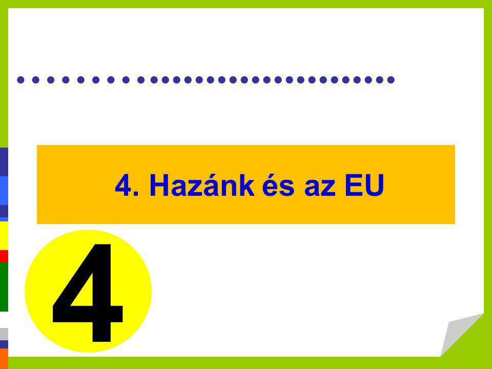 ………...................... 4. Hazánk és az EU 4