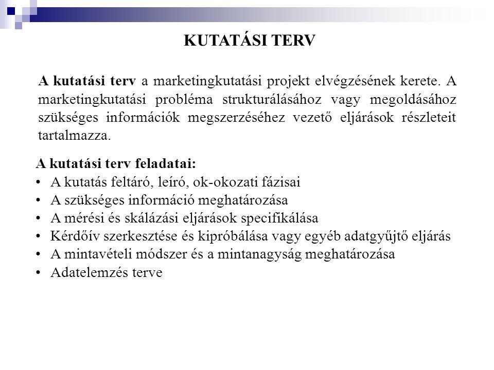A TÖBBDIMENZIÓS SKÁLÁZÁS MENETE III.3.