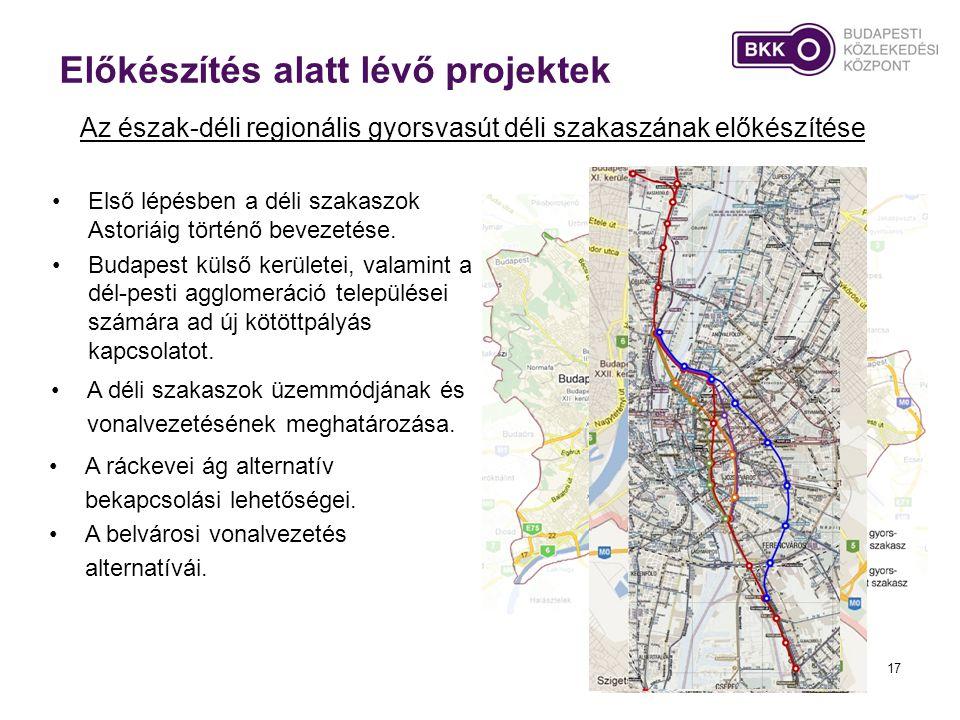 •Első lépésben a déli szakaszok Astoriáig történő bevezetése. •Budapest külső kerületei, valamint a dél-pesti agglomeráció települései számára ad új k