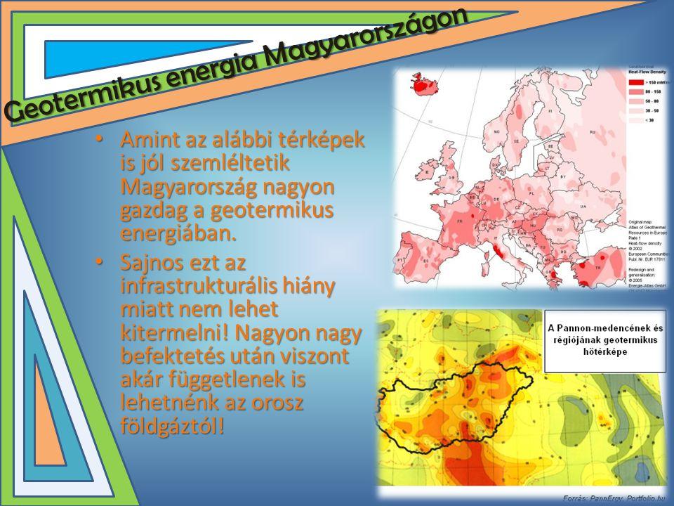 Geotermikus energia Magyarországon • Amint az alábbi térképek is jól szemléltetik Magyarország nagyon gazdag a geotermikus energiában. • Sajnos ezt az