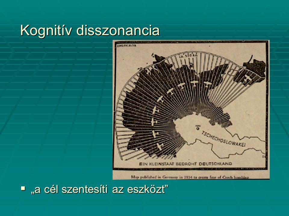 """Kognitív disszonancia  """"a cél szentesíti az eszközt"""