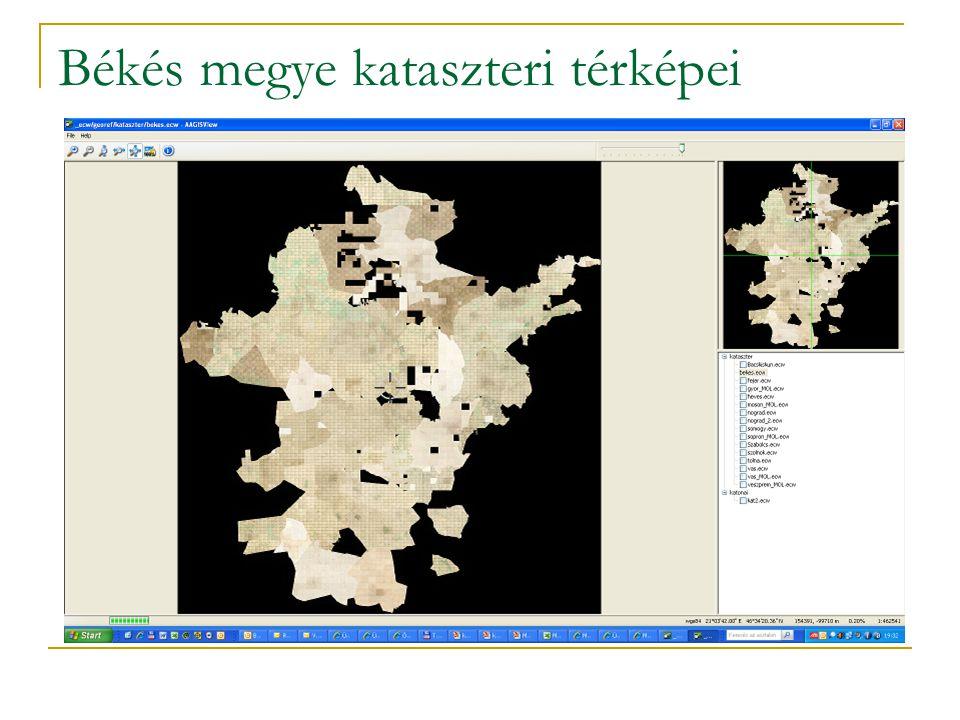 Békés megye kataszteri térképei