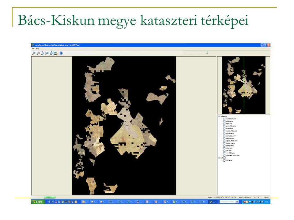 Bács-Kiskun megye kataszteri térképei