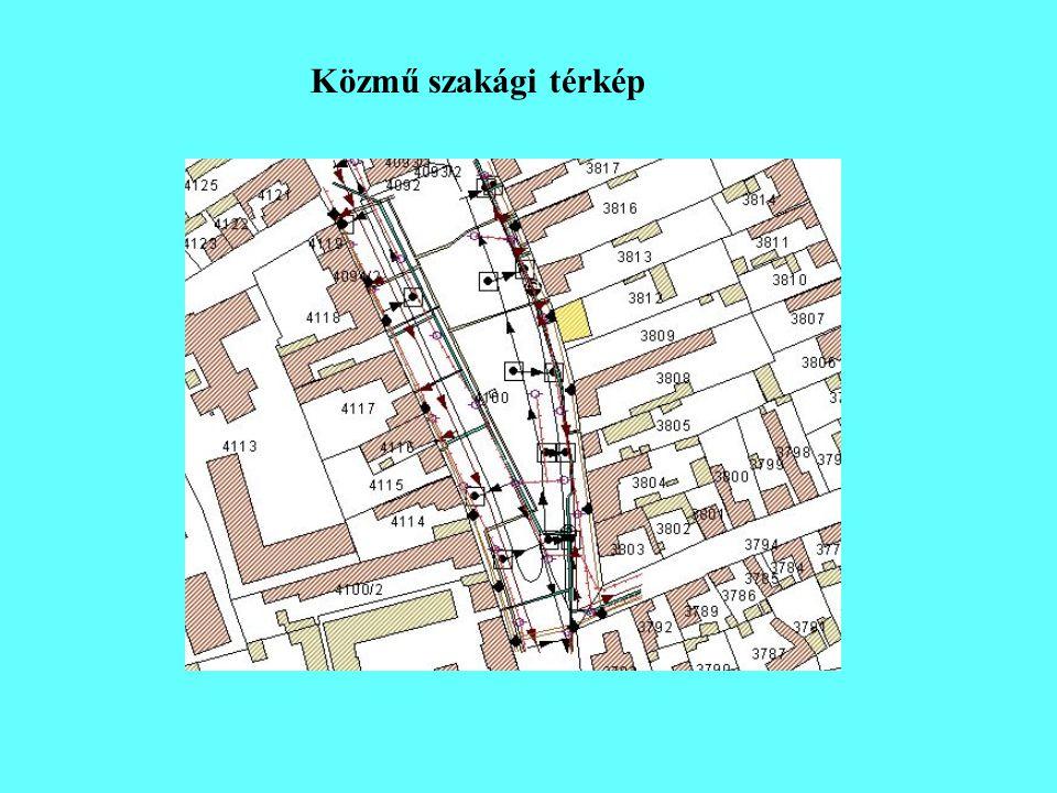 Közmű szakági térkép