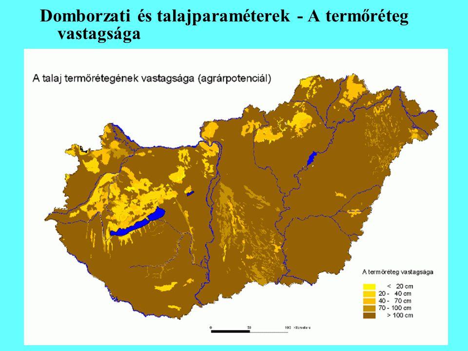 Domborzati és talajparaméterek - A termőréteg vastagsága