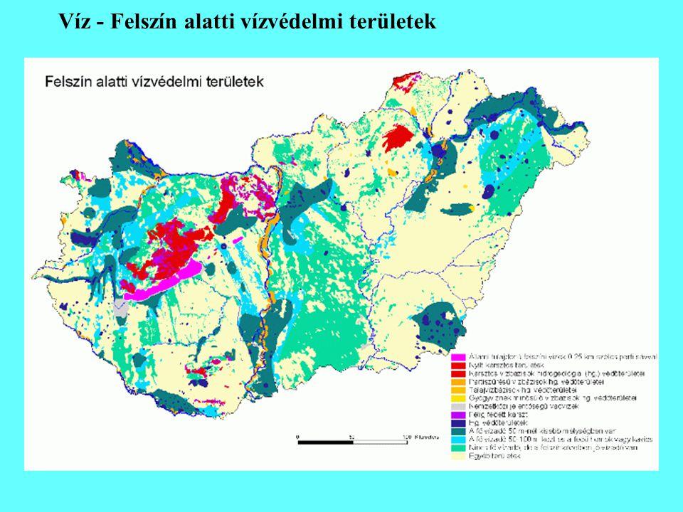 Víz - Felszín alatti vízvédelmi területek