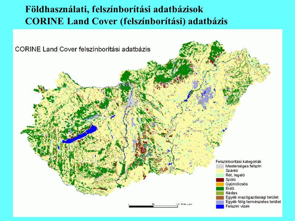Földhasználati, felszínborítási adatbázisok CORINE Land Cover (felszínborítási) adatbázis