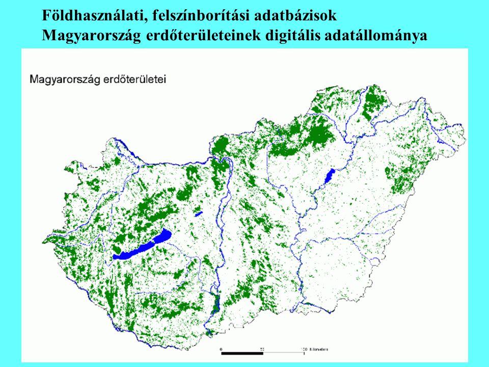 Földhasználati, felszínborítási adatbázisok Magyarország erdőterületeinek digitális adatállománya