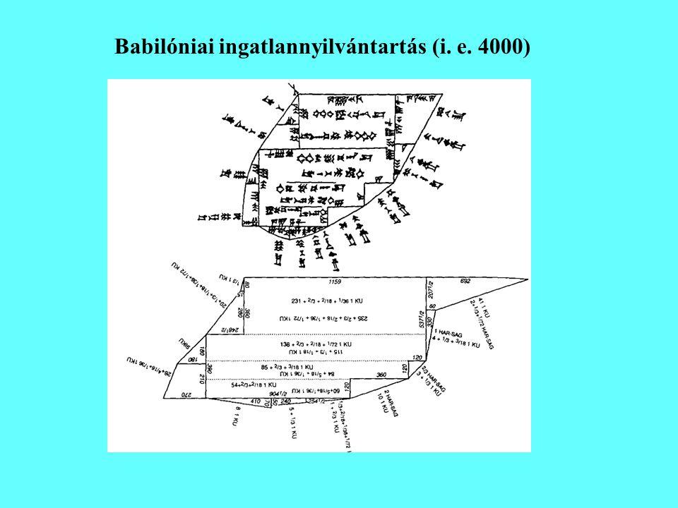 Egyiptomi ingatlannyilvántartás (i.e.