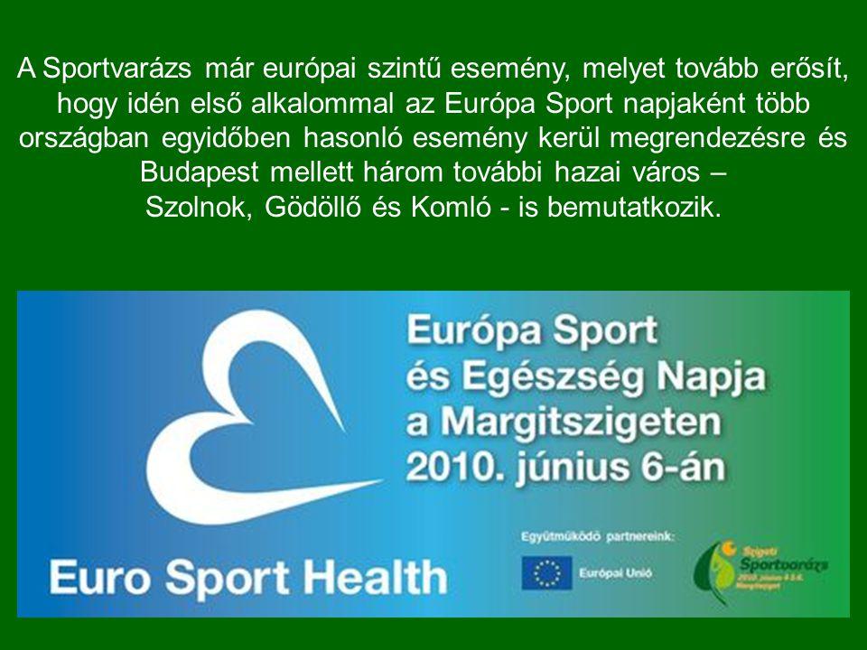A Sportvarázs már európai szintű esemény, melyet tovább erősít, hogy idén első alkalommal az Európa Sport napjaként több országban egyidőben hasonló esemény kerül megrendezésre és Budapest mellett három további hazai város – Szolnok, Gödöllő és Komló - is bemutatkozik.