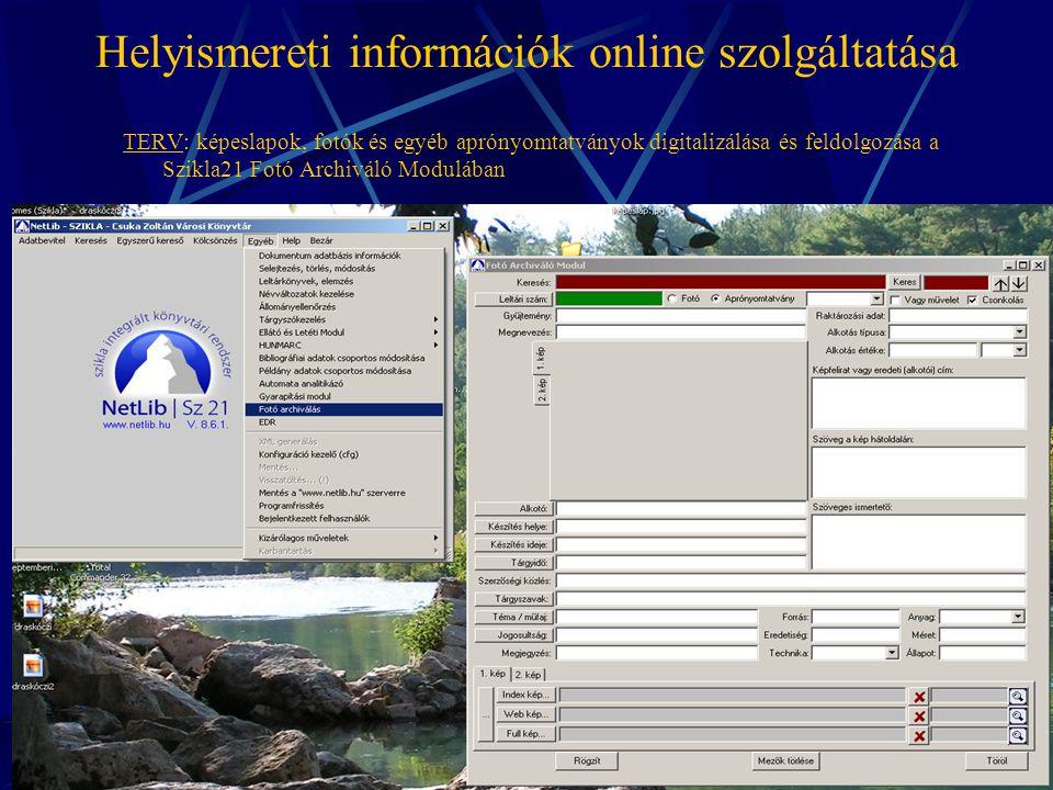 Helyismereti információk online szolgáltatása Ki kicsoda Érden? - személynévtár