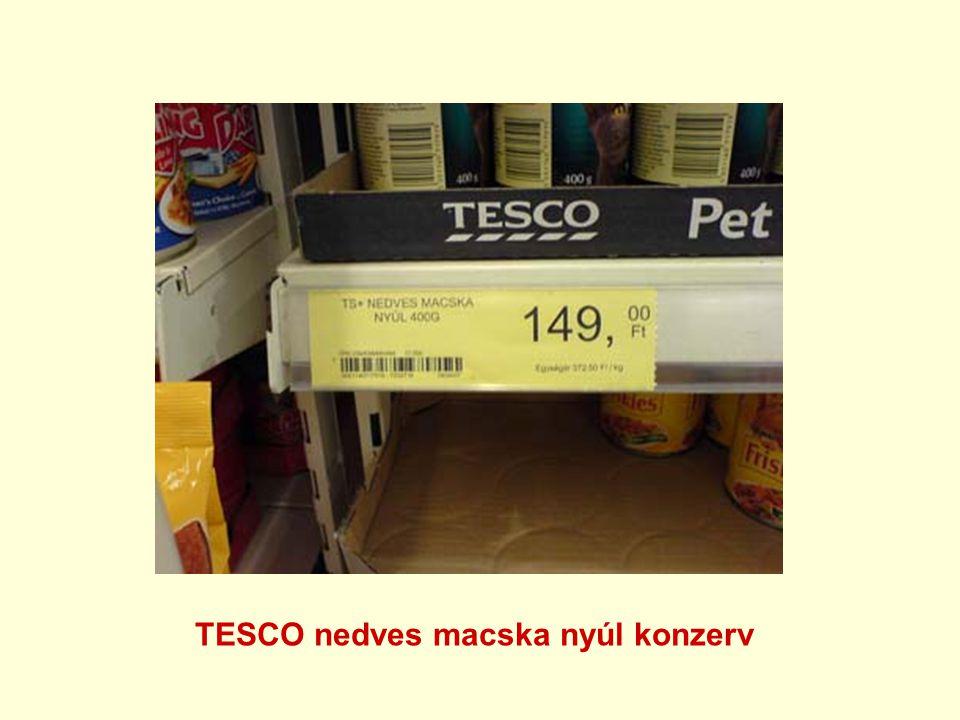 TESCO nedves macska nyúl konzerv