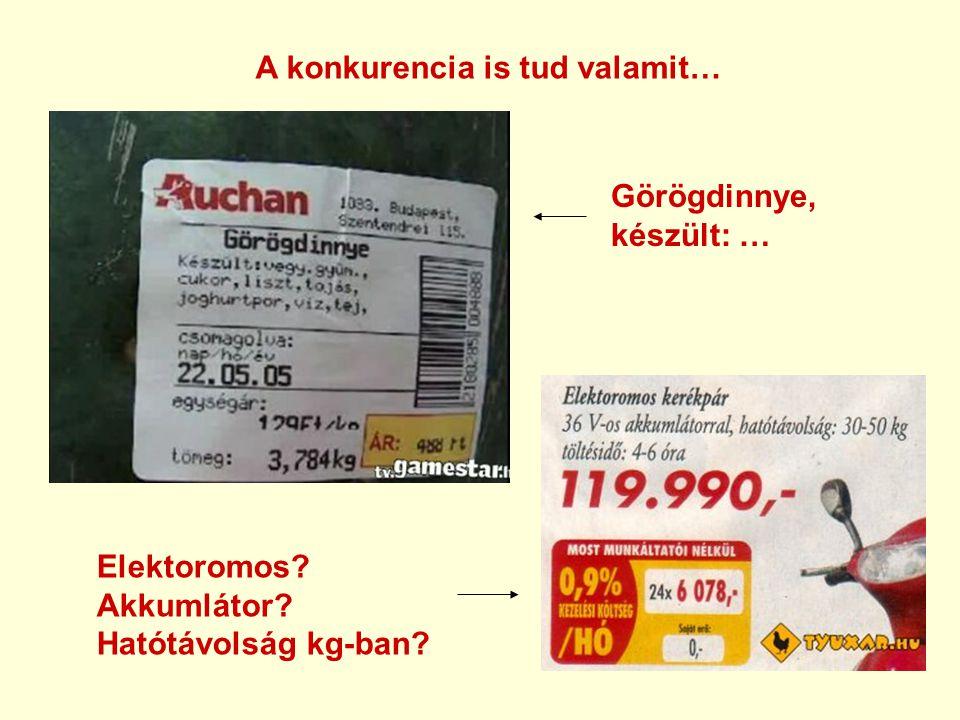 A konkurencia is tud valamit… Görögdinnye, készült: … Elektoromos Akkumlátor Hatótávolság kg-ban