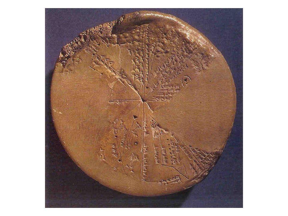Babilon (Ninive) •Égetett cserép •Az égbolt Kr. E. 650. január 3-4-én •Hét szeletre bontott égbolt