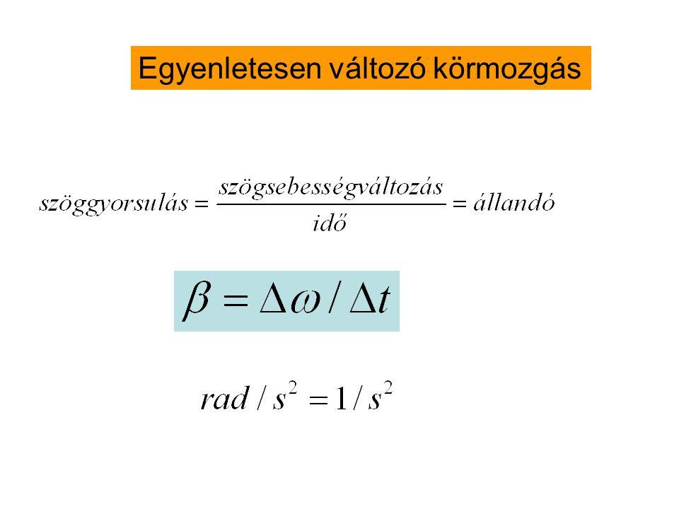 Példa: kalapácsvető r=2.4m v ker =30m/s az eldobás pillanatában T,f,ω=?