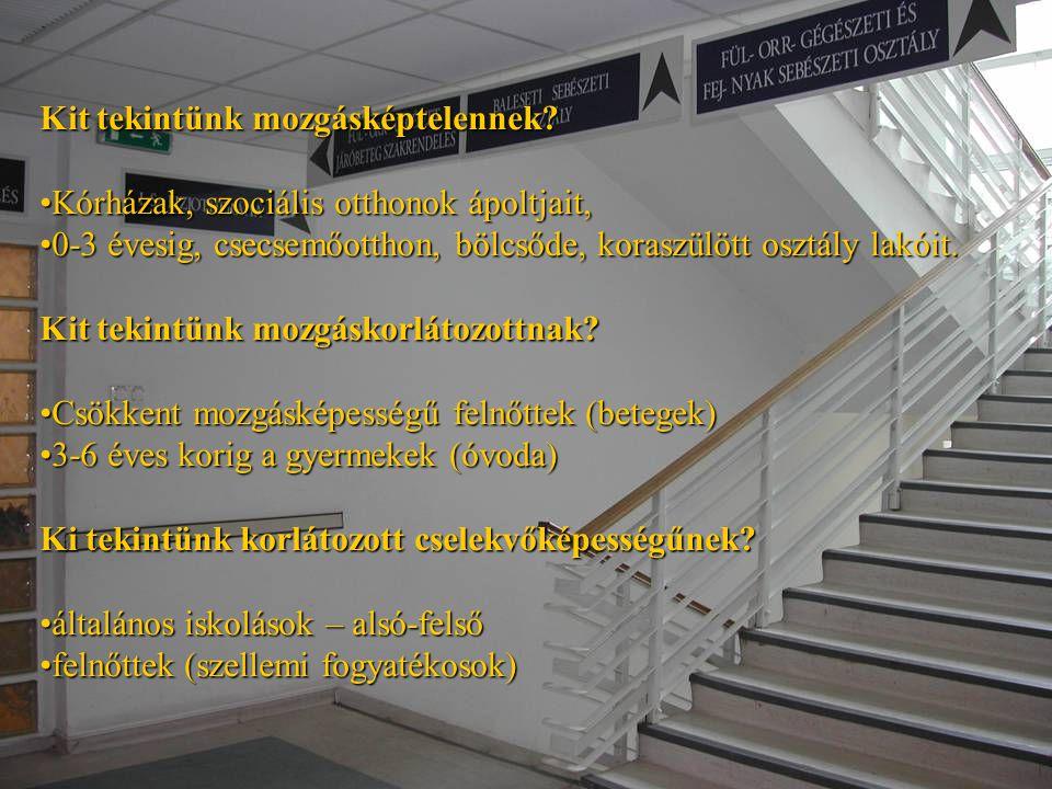 A mozgásképtelenek menekítésének speciális szempontjai: •Legkisebb ügyeletes ápolószemélyzet létszáma.